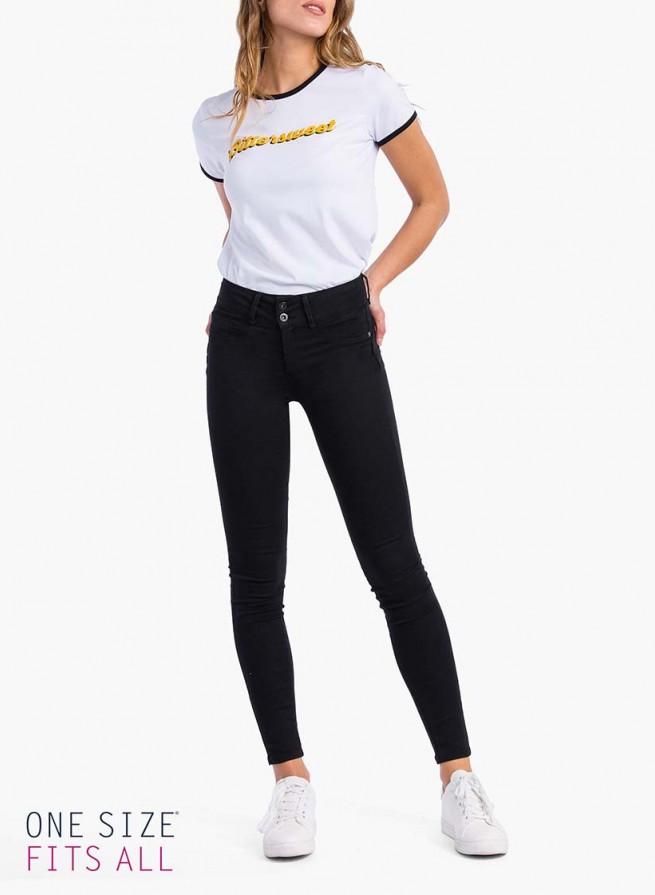 67cf95fd8e Jeans double up noir push up - one size tiffosi taille unique