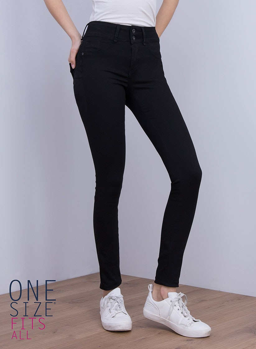 6afc244a7ed Jeans double up noir push up - one size tiffosi taille unique