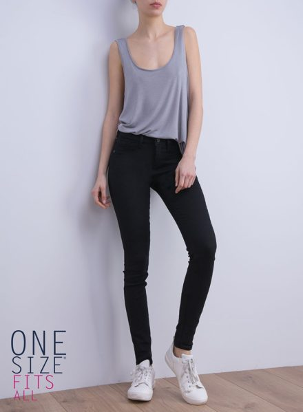 Jean tiffosi one size coupe original coloris noir