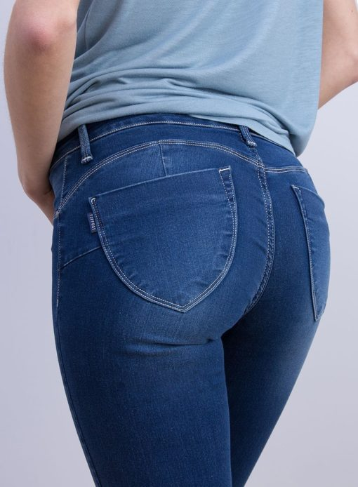 jean tiffosi push up taille basse rehaussée